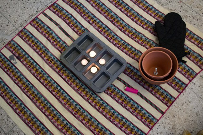 How to make a DIY space heater without electricity