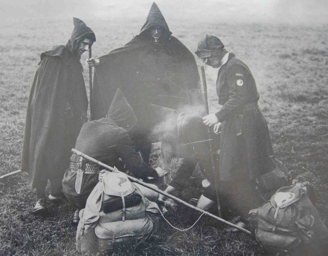 Kindred of the Kibbo Kift, in Costume, 1930s