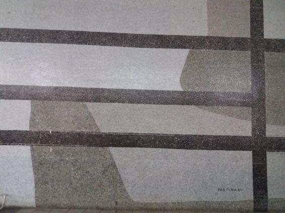Obra de Portinari em pastilha dentro da Galeria California Foto: ExperiMenteSP