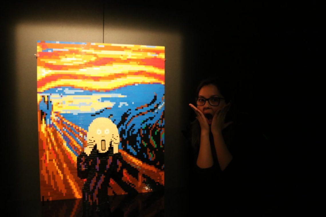 Quadro O Grito em Art Of The Brick Foto: ExperiMenteSP