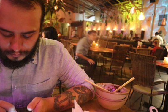 Felipe no Restaurante Tantra - Foto: ExperimenteSP
