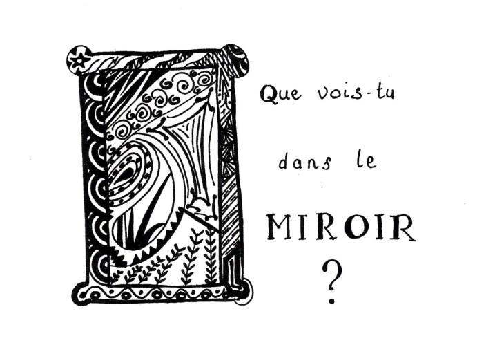 zen doodle de miroir