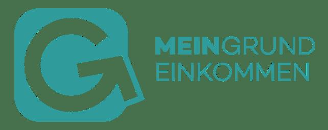 Logo von Mein Grundeinkommen, einer Initiative, die ein bedingungsloses Grundeinkommen verlost.