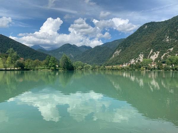 The 'lake' at Most na Soci