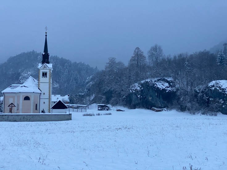 Church, snow, winter