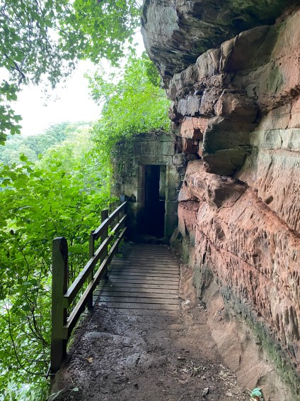 Wetheral Caves entrance