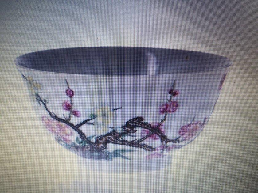 porcelaine falangcai de l'empereur Yongzheng de la dynastie qing
