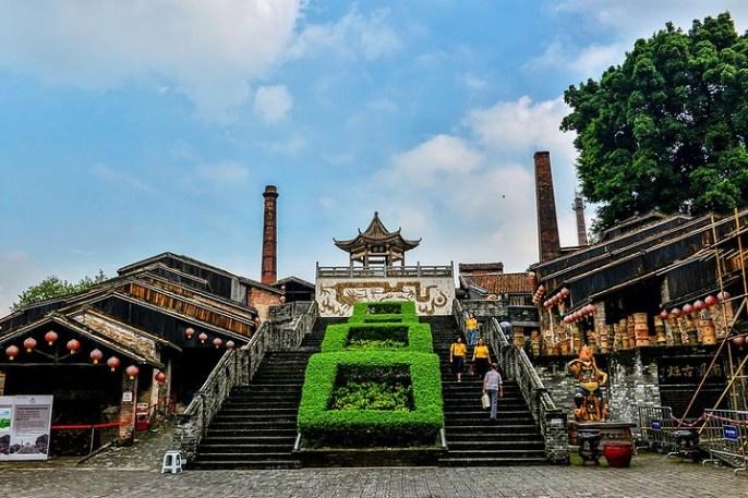 Four dragon de shiwuan dans la ville de Foshan