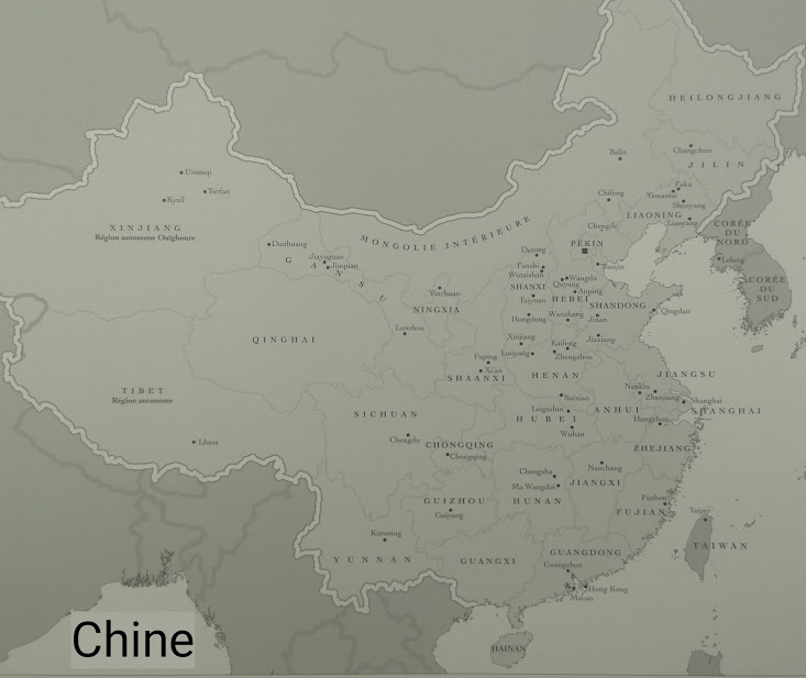 geographie chine carte pays province