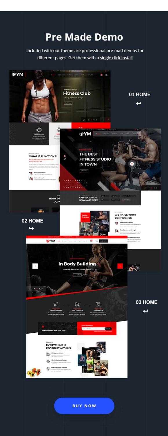 DailyFit - Fitness and Gym WordPress Theme - 7