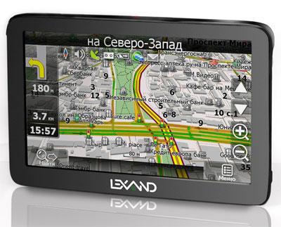 "Lexand ST-610 - первый GPS-навигатор с 6"" TFT-дисплеем"