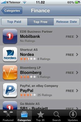 Мобильный клиент-банк Mobilbank App для iPhone