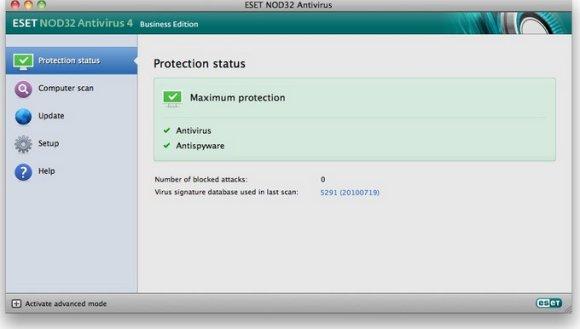 ESET NOD32 Antivirus для Mac