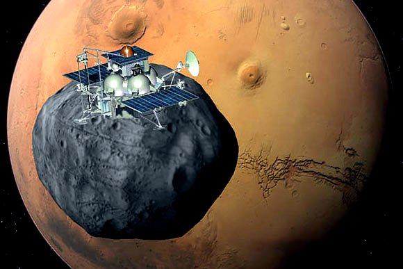 «Фобос-Грунт» у Фобоса и Марса