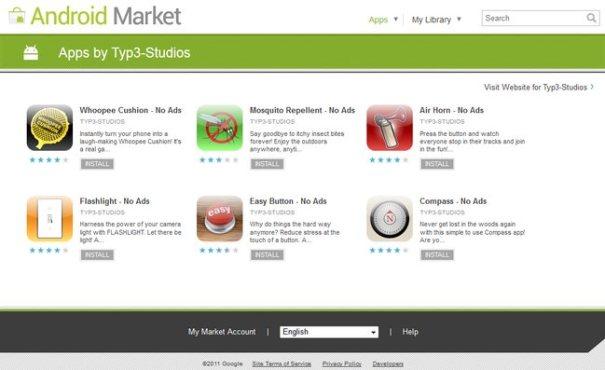 Вредоносные приложения в Android Market