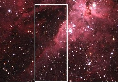 Путь астероида DA14 - фото NASA