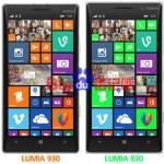 Nokia Lumia 830 показали в сравнении со смартфоном Lumia 930