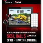 MWC 2018: решения для мобильных геймеров ADATA и XPG