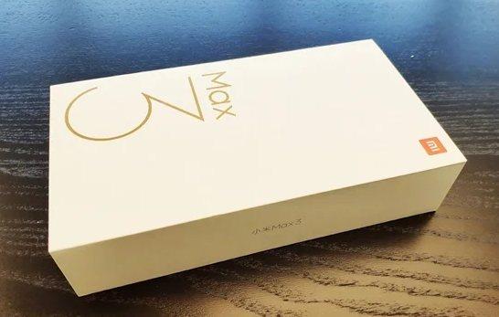 Xiaomi Mi Max 3 коробка