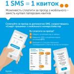 В Ивано-Франковске впервые в Украине запущен сервис SMS-оплат за проезд в транспорте при помощи услуги Смарт-Гроші от Киевстар