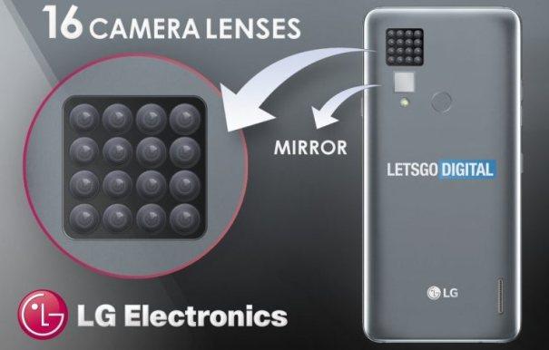 LG запатеновала телефон с 16 задними камерами