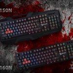 Новые игровые клавиатуры BLOODY B150N и B160N
