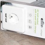 EnerGenie EG-ACU2A2-01– электрическая розетка с USB-портами на 2.4А и простой установкой