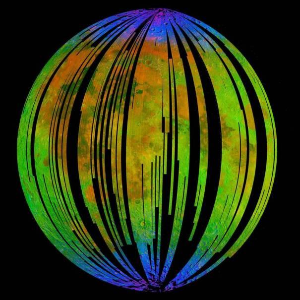 спектр Лунной поверхности