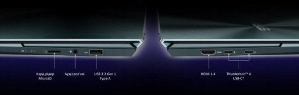 Интерфейсы ASUS ZenBook Duo 14 (UX482)