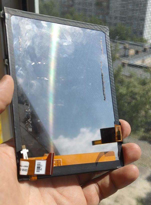 Экран PocketBook 628 как зеркало