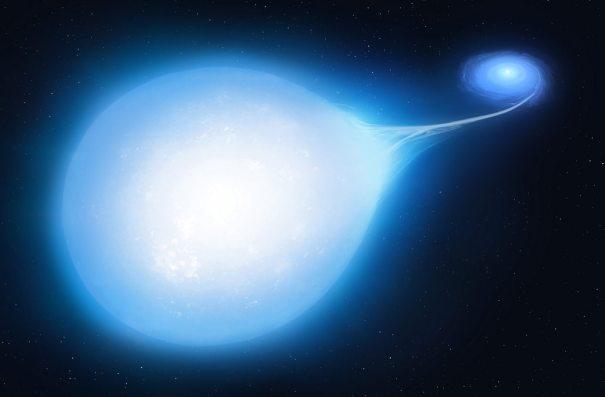 Одна звезда была искажена в форму слезы массивным белым карликом