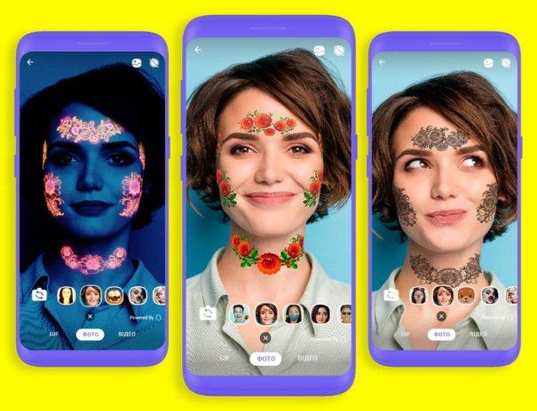 Viber создал маски дополненной реальности для украинцев