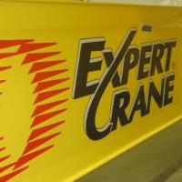 Expert Crane logo on machinery