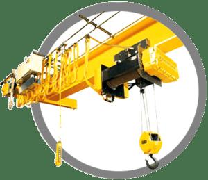 Crane arm, left end