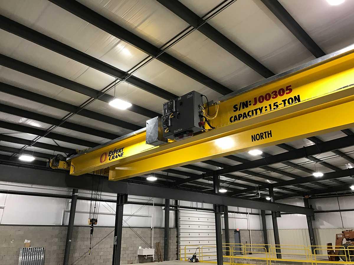 15-ton capacity crane