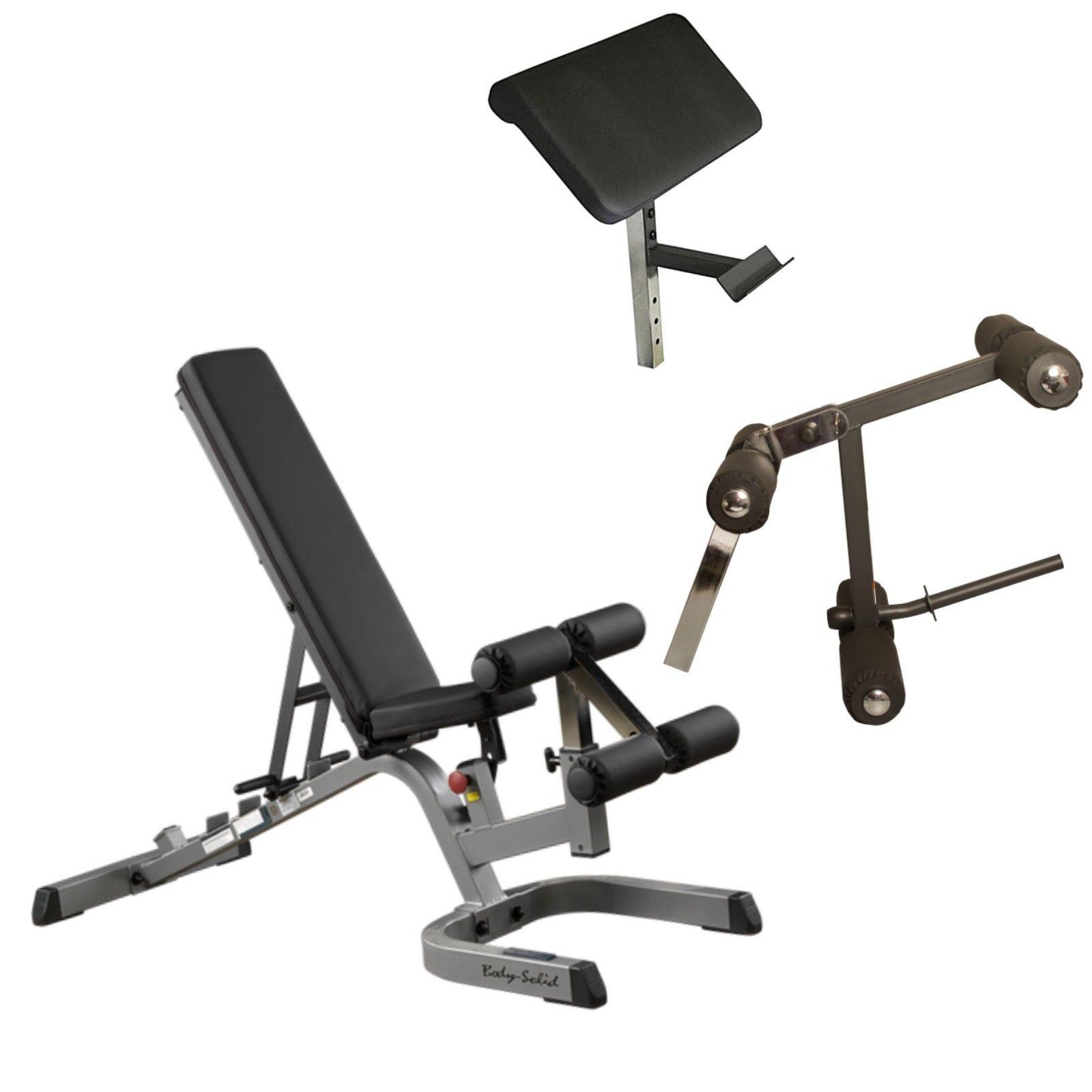 Body Solid Adjustable Weight Bench W Leg Developer