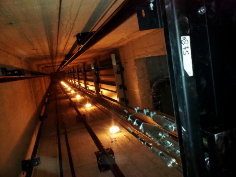 шахтово осветление на асансьор