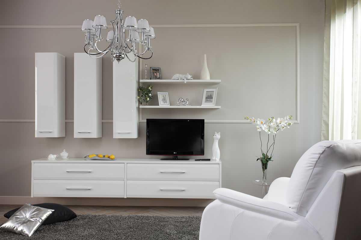 Come il resto del soggiorno, molto sobrio (mobili e tappeti bianchi,. Mobili Bianchi Negli Interni 75 Esempi Di Design