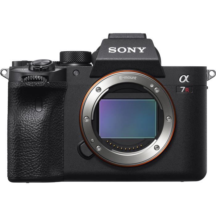 An image of a Sony A7R IV mirrorless camera