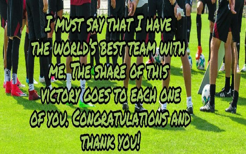 Thank You Messages For Sports Team Members Quotes And Notes To Thank Fellow Team Members