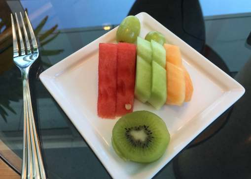 Emirates Lounge BNE fruit platter