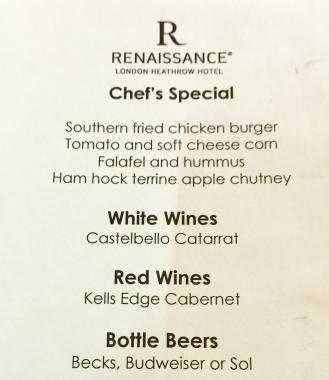 Ren club menu