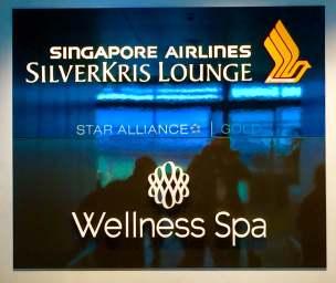 SilverKris Lounge sign