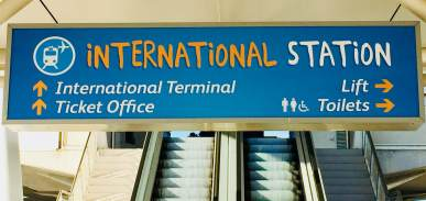 international train station