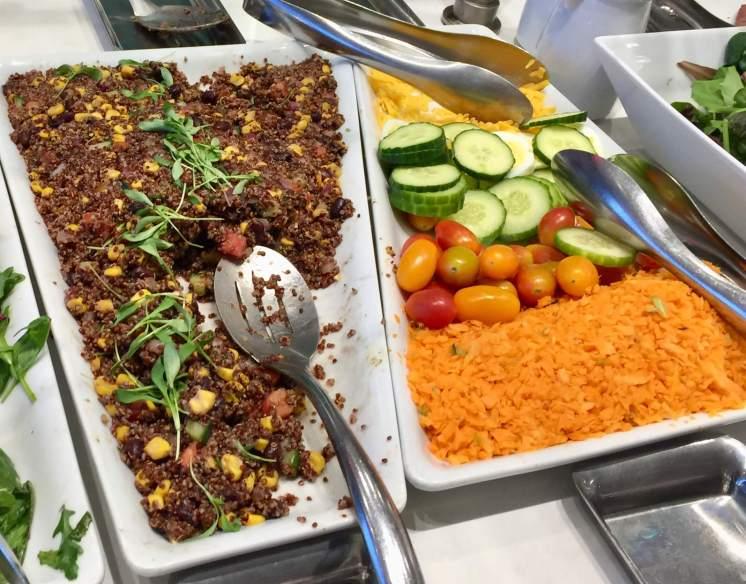 AA-Flagship-Lounge-buffet-salads-round-world-trip