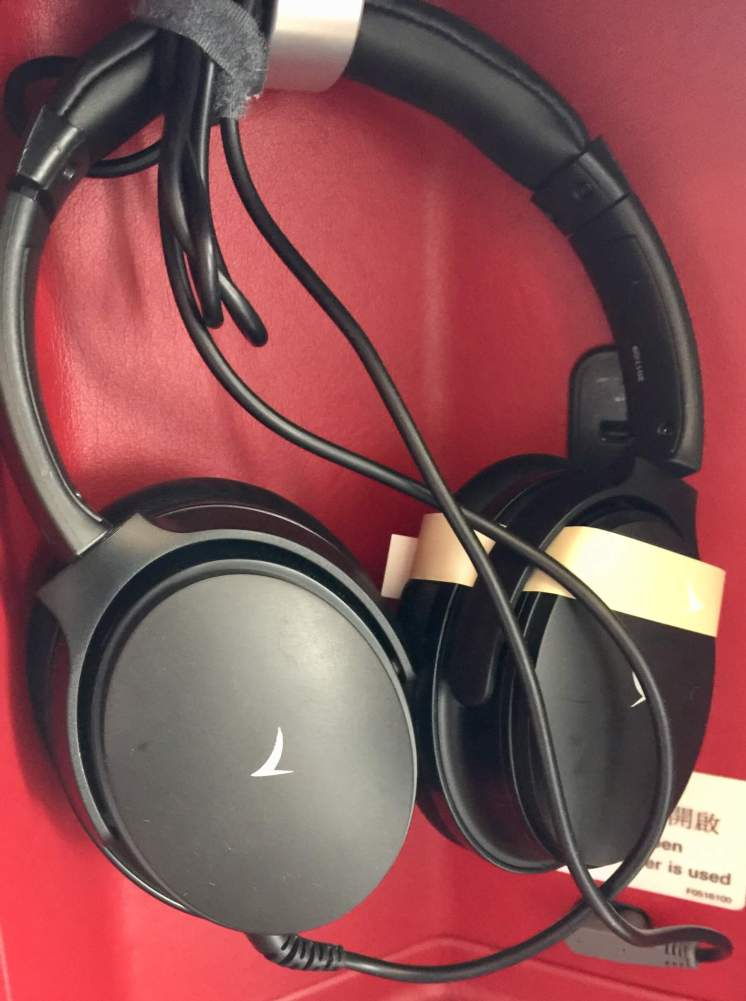 Cathay-Pacific-Business-Class-noise-cancelling-headphones-round-world-trip