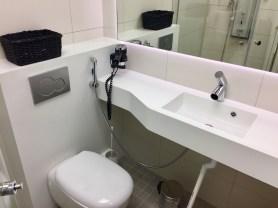 Finnair-Premium-Lounge-shower-suite-bathroom-round-world-trip