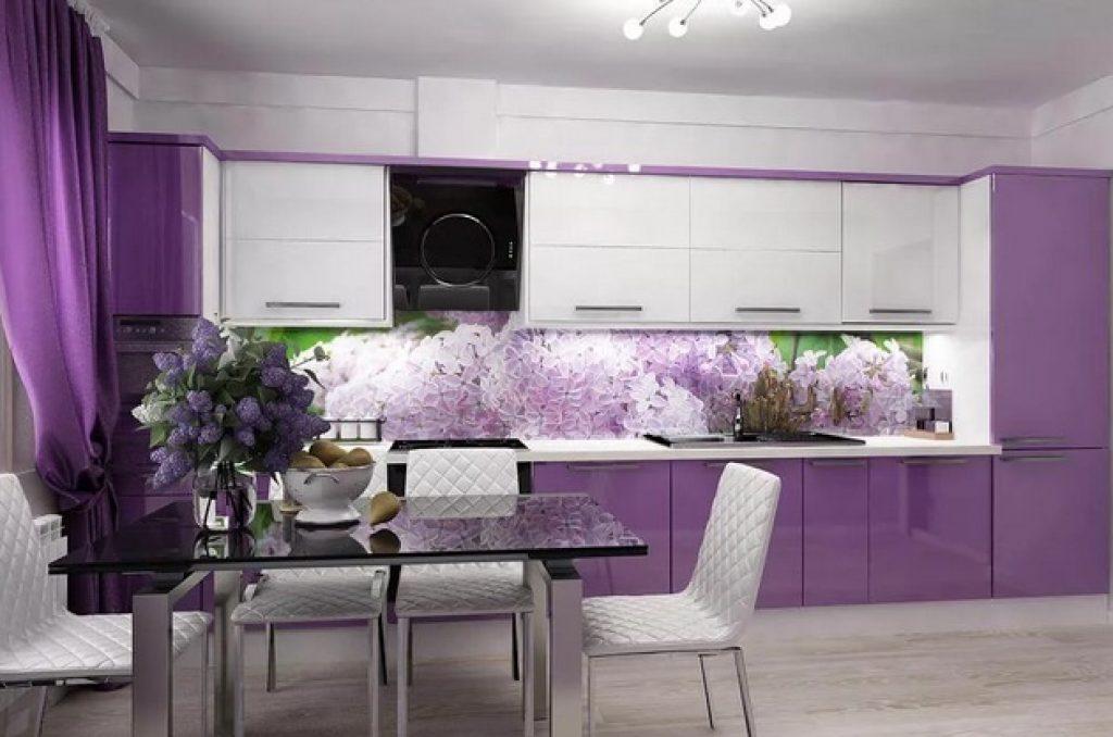 фиолетовый фартук
