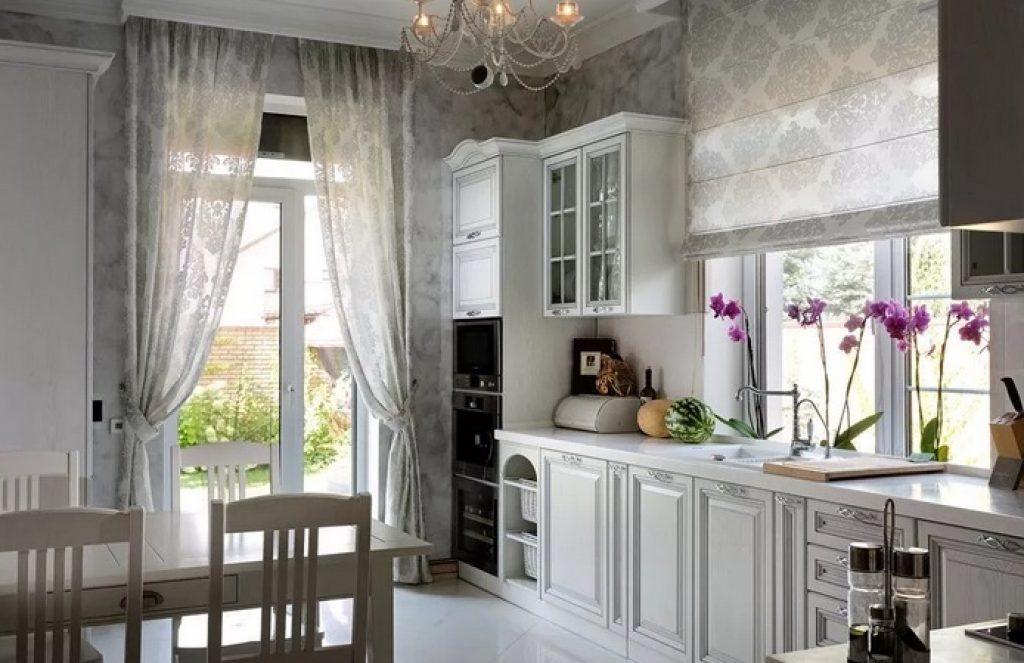 кухня-гостиная оформление окна