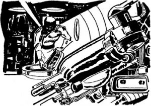 Tom Corbett Adventure: Treachery In Outer Space by Corey Rockwell. Illus. Louis Glanzman. 1954